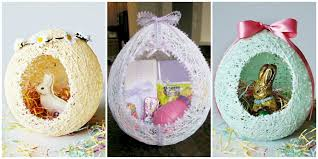 Diy Easter Basket These Diy Sugar String Easter Baskets Are The Most Adorable