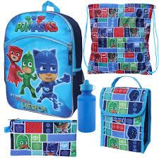 pj masks catboy owlette u0026 gekko 5 pc backpack lunch box