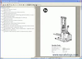 bt quality parts spare parts catalog forklift trucks manuals