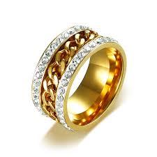 wedding rings wholesale images Wholesale stainless steel ip gold ladies wedding rings jc fashion jpg