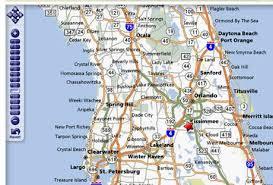 map of kissimmee kissimmee orlando florida area information