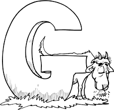 g for goat printable coloring pages for kids boys and girls