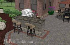 Backyard Brick Patio Design With 12 X 12 Pergola Grill Station by Pergola Bar And Lighting I Like The Simple Straight Cut Ends
