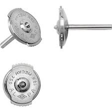 earrings with on backs platinum 950 lock earring backs 7mm ref gp3409