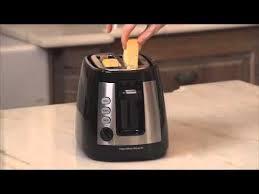 Hamilton Beach Smarttoast 4 Slice Toaster Hamilton Beach Warm Mode Toaster With Retractable Cord 22810 Youtube
