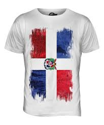 Dominican Republic Flags Dominican Republic Grunge Flag Mens T Shirt Tee Top República
