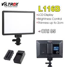 viltrox l116b camera led video light slim lcd display dimmable