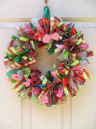 ribbon wreaths christmas wreath ribbon wreath and fabric wreath for christmas
