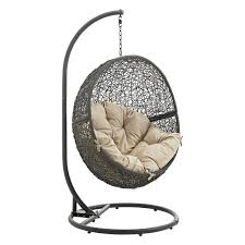 Swing Chair With Stand Island Bay Tanna Tear Drop Resin Wicker Egg Chair With Cushion And