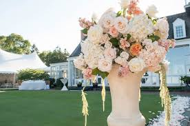 Peach Flowers A Gorgeous Lakefront Ceremony Tented Reception With Peach