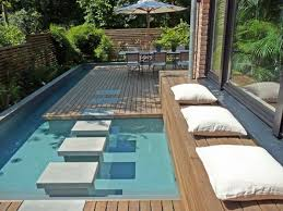 Backyard Ideas With Pool Small Swimming Pool Designs Shellecaldwell