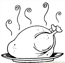 coloring pages of turkeys thanksgiving cooked turkey coloring pages getcoloringpages com