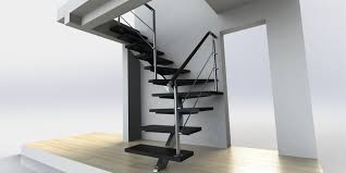prolific simple black iron modern staircase with rail banister as