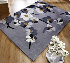 Modern Rugs Uk by Flair Rugs Infinite Blossom Grey Ochre Buy Online At Modern Rugs