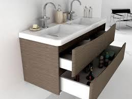 Bathroom Sink Vanity Units Uk - motiv 1200 wall mounted double basin vanity unit grey elm furniture