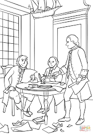 writing the declaration of independence coloring page free