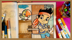 coloring pages for kids youtube disney jake and the neverland