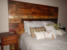 Headboards Made With Pallets Diy Recycled Pallet Headboard Pallets Designs