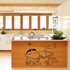 wall decals for dining room creative cartoon kitchen art mural poster decor tile cabinet