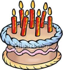 a birthday cake royalty free clipart image a birthday cake with candles on top