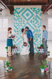 quilt wedding backdrop geometric ceremony backdrop by sarahparkdesigns on etsy 700 00