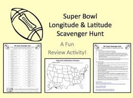 here u0027s a super bowl themed latitude and longitude activity where