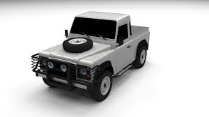 land rover defender black 3d model land rover defender 90 pick up cgtrader