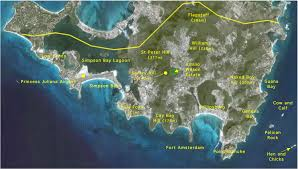 St Martin Map Land Park Possible For St Maarten Dutch Caribbean Nature Alliance