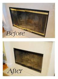 How To Update Brick Fireplace by Update Brick And Brass Fireplace By Painting It Black