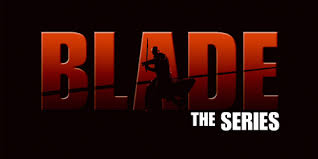 blade the series show logo in silhouette 3d gradient