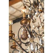 Iron Chandelier With Crystals Incredible Jansen Wrought Iron Crystal Chandelier Decaso