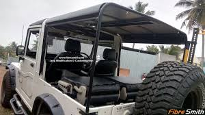 mahindra thar hard top interior jeep modification accessories in coimbatore jeep alteration