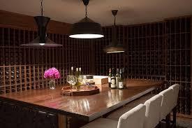 Wine Tasting Table Basement Wine Cellar With Floor To Ceiling Wine Racks