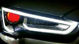 audi headlights evo x audi a5 replica headlights with demon eye review youtube