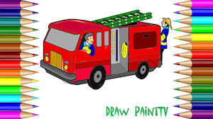 baby learn coloring fire truck fire truck car kids coloring