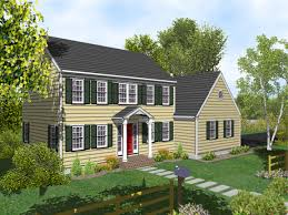 Colonial House Plan by Story Colonial House Plans Two With Porch Lrg Home Plan Home