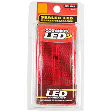 Optronics Led Trailer Lights Oval Led Clearance Marker Light Replaceable Lens Fleet Count