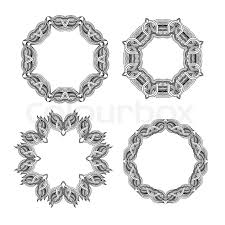 set of ornament frames stock vector colourbox