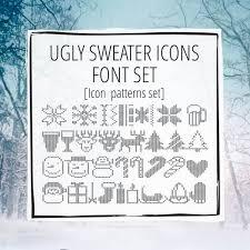 ugly sweater greek font set greekhouse of fonts