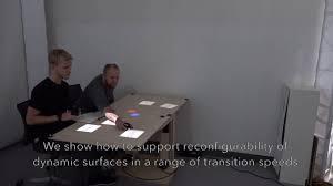 Shape Shifting Furniture Proxemic Transitions Designing Shape Changing Furniture For