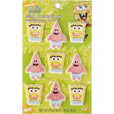spongebob cake toppers spongebob squarepants icing decorations wilton