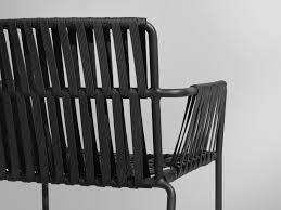 fauteuil en corde chaise contemporaine avec accoudoirs empilable en tissu
