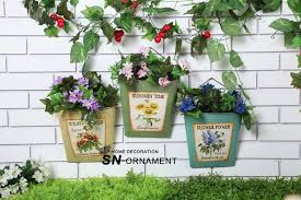 Wrought Iron Wall Planters by Style Wrought Iron Wall Hanging Garden Pots Planters Creative