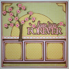 scrapbook inserts 2 page scrapbook layout ideas this gorgeous cherry blossom tree