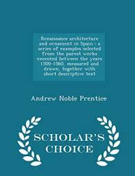renaissance architecture ornament spain abebooks