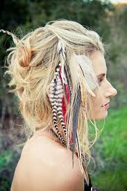 feathers in hair feather hair extensions add a bohemian cool to your hair
