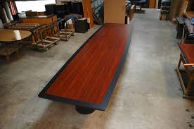 Boat Shaped Boardroom Table Large 16 Ft Boat Shaped Conference Table In Cherry Laminate
