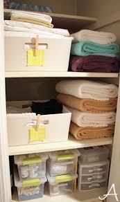 organizing the linen closet organizing linens and organizations