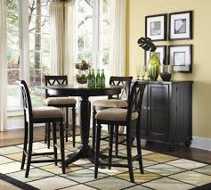 corner dining table chairs traditional black solid wood round