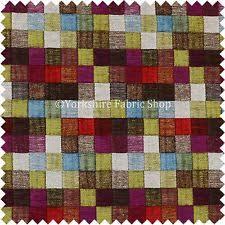 Colourful Upholstery Fabric Patchwork Upholstery Craft Fabrics Ebay